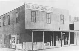 The Beaumont Building of The Texas Company, early 1900's. -  Photo courtesy of ChevronTexaco Corporation